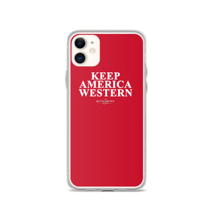Keep America Western™️ iPhone Case