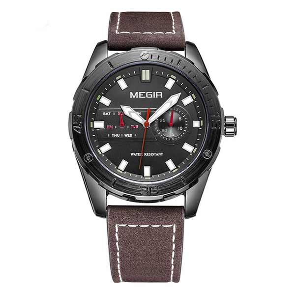 Megir 1063 Mens Leather Watch