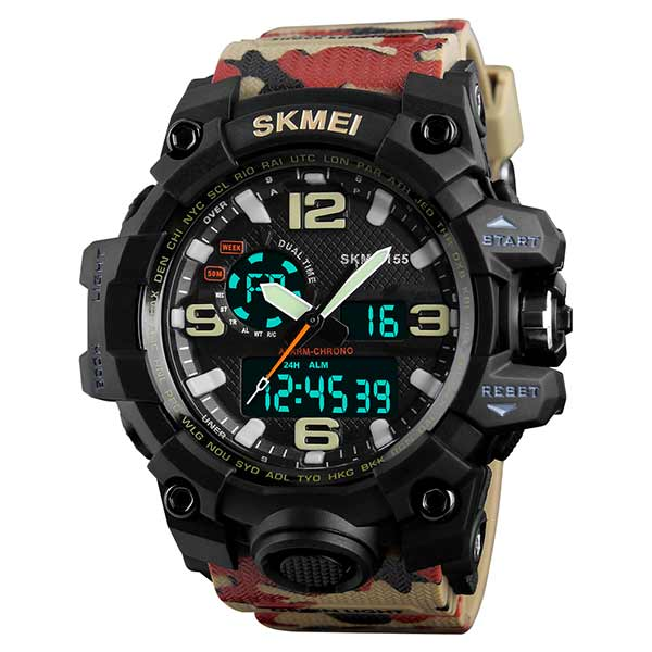 SKMEI 1155 Mens Dual Display Sports Watch