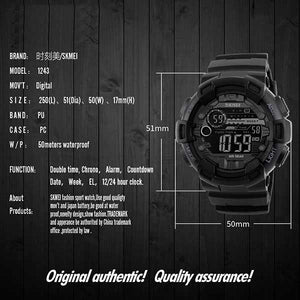 SKMEI 1243 Unisex Digital Sports Watch