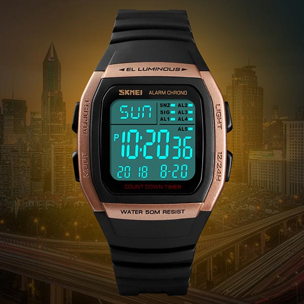 SKMEI 1278 Mens Digital Sports Watch