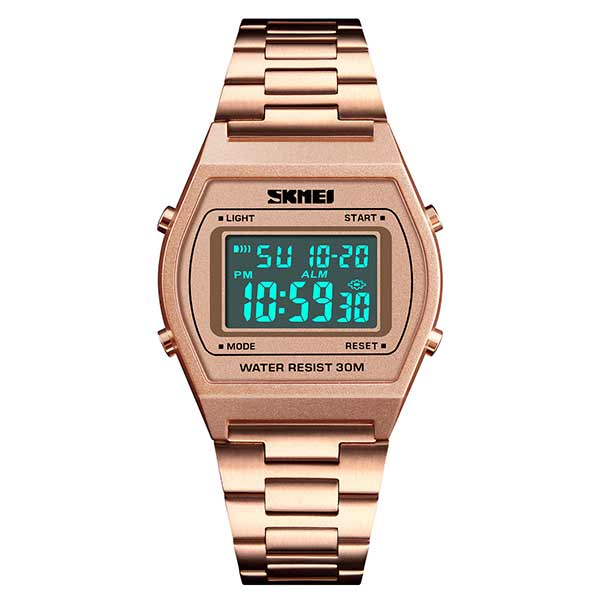 SKMEI 1328 Unisex Digital Stainless Steel Watch