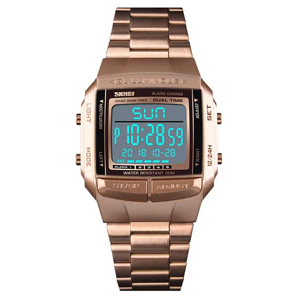 SKMEI 1381 Unisex Digital Stainless Steel Watch