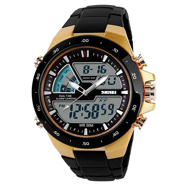 SKMEI 1016 Mens Dual Display Sports Watch