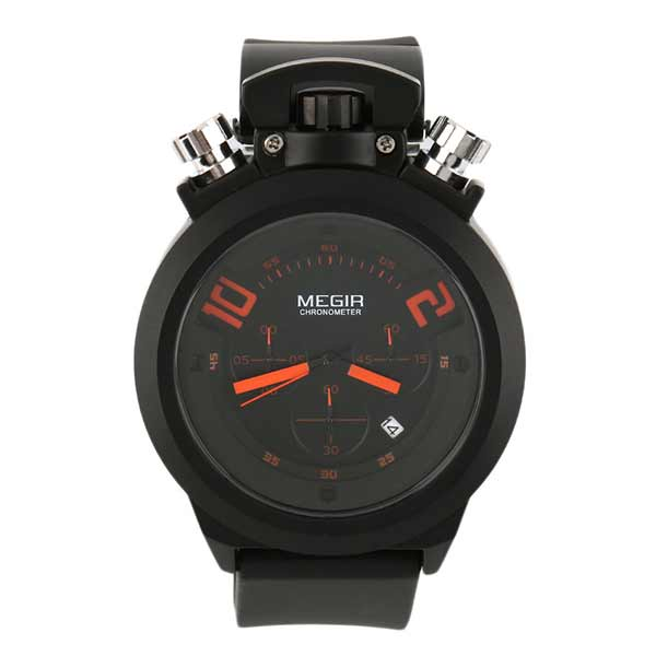 Megir 2004 Mens Silicone Watch