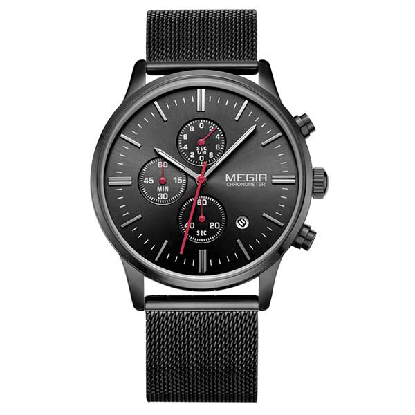 Megir 2011 Mens Stainless Steel Watch