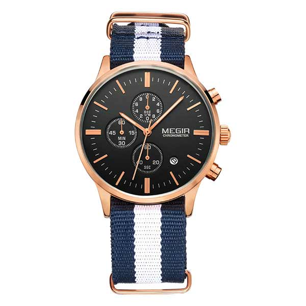 Megir 2011 Mens Nylon Watch