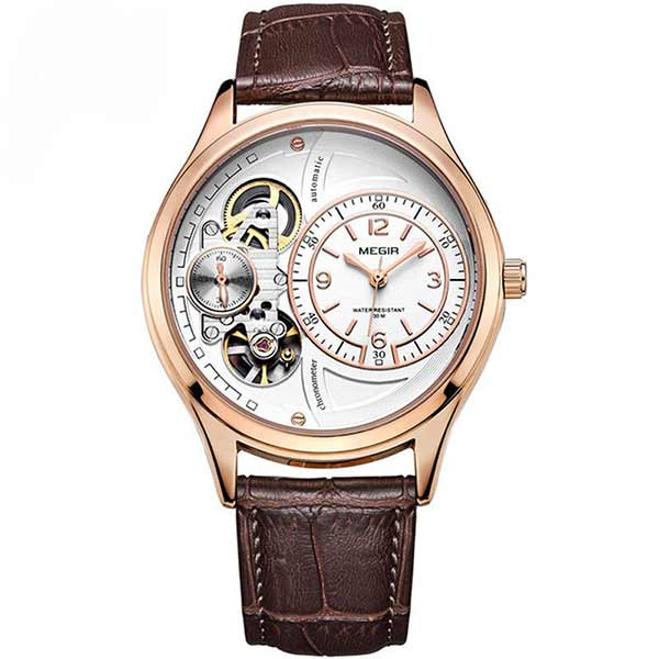 Megir 2017 Mens Leather Watch