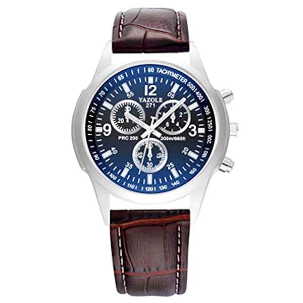 Yazole 271 Mens Leather Watch