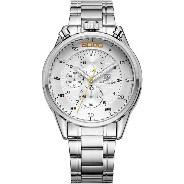 Megir 3005 Mens Stainless Steel Watch