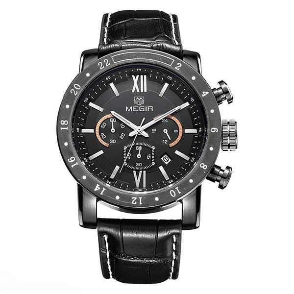 Megir 3008 Mens Leather Watch
