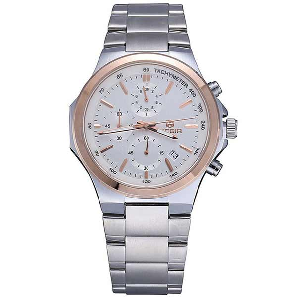 Megir 5004 Mens Stainless Steel Watch