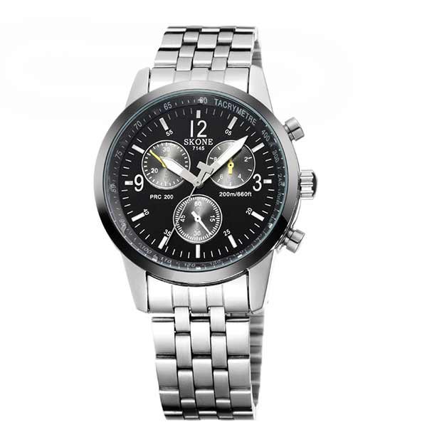 Skone 7145 Mens Stainless Steel Watch