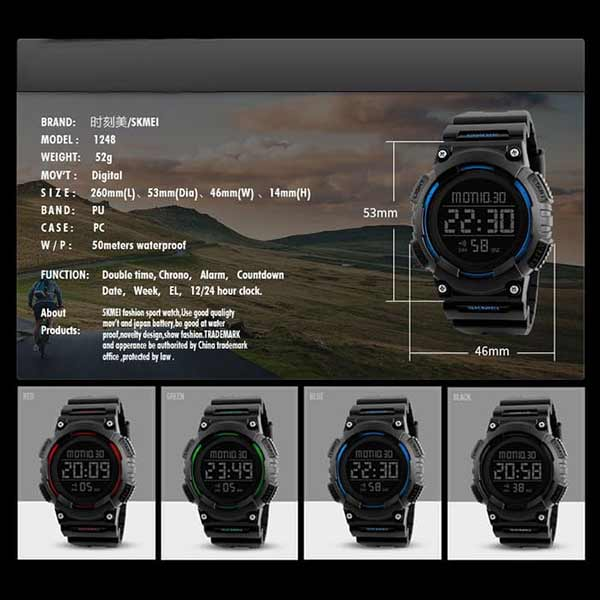 SKMEI 1248 Unisex Digital Sports Watch