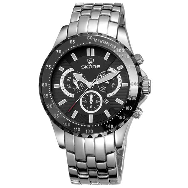 Skone 7389 Mens Stainless Steel Watch