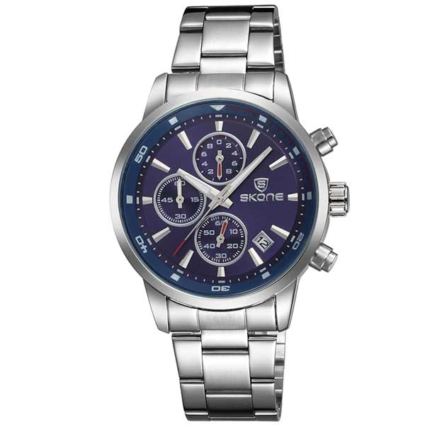 Skone 7390 Mens Stainless Steel Watch