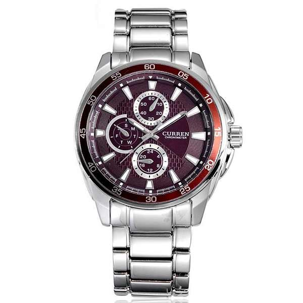 Curren 8076 Mens Stainless Steel Watch