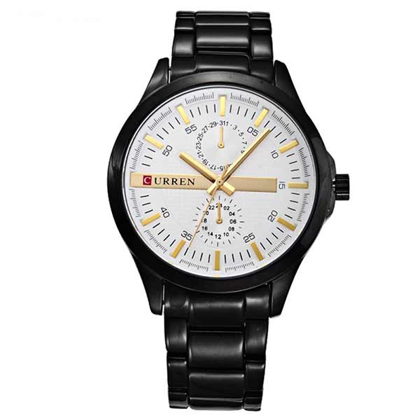Curren 8128 Mens Stainless Steel Watch