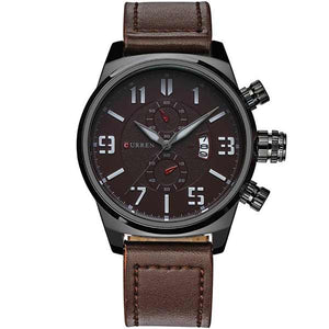 Curren 8200 Dated Mens Leather Watch