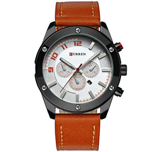 Curren 8204 Dated Mens Leather Watch