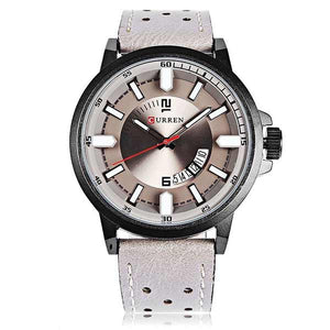 Curren 8228 Dated Mens Leather Watch