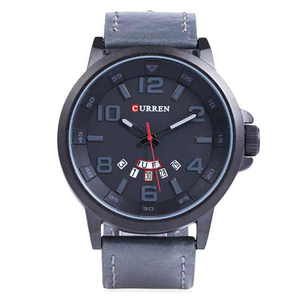 Curren 8240 Dated Mens Leather Watch
