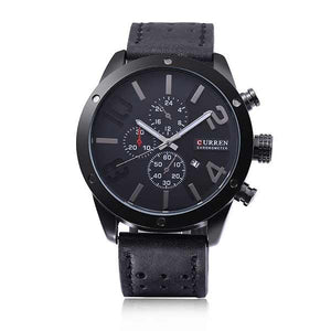 Curren 8243 Dated Mens Leather Watch