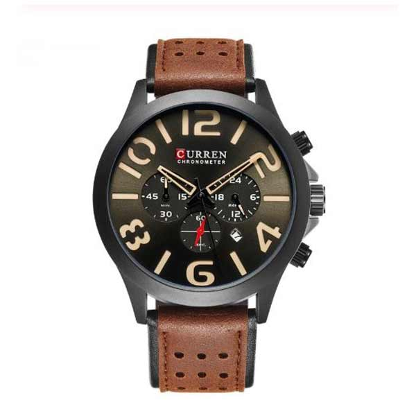 Curren 8244 Dated Mens Leather Watch