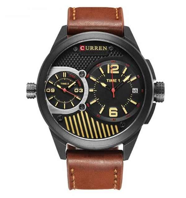 Curren 8249 Dated Mens Leather Watch