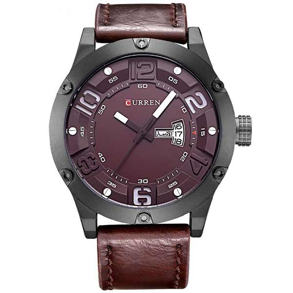 Curren 8251 Dated Mens Leather Watch