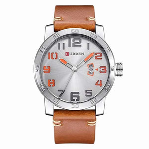 Curren 8254 Dated Mens Leather Watch