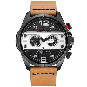Curren 8259 Mens Leather Watch