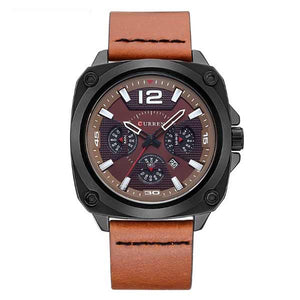 Curren 8260 Dated Mens Leather Watch
