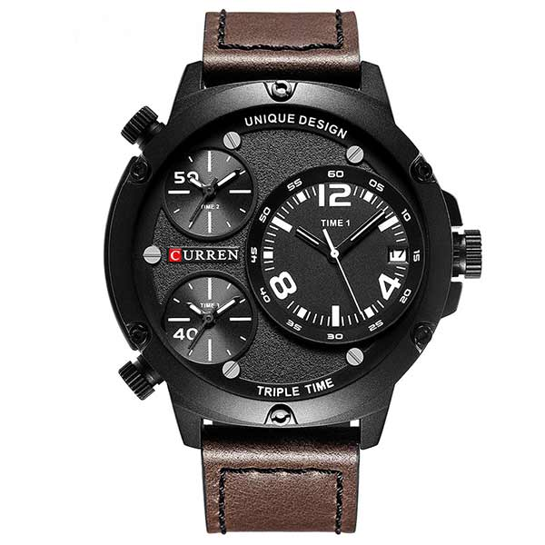 Curren 8262 Dated Mens Leather Watch
