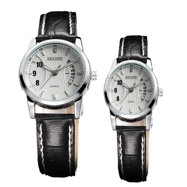Skone 9108 Couple Leather Watch