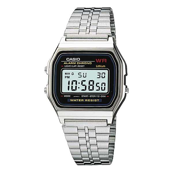 Casio A159W-N1DF Digital Unisex Silver