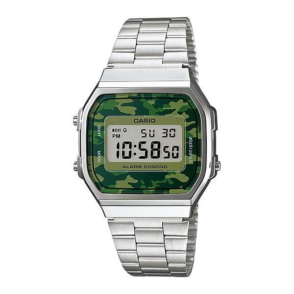 Casio A168WEC-3DF Digital Unisex Silver