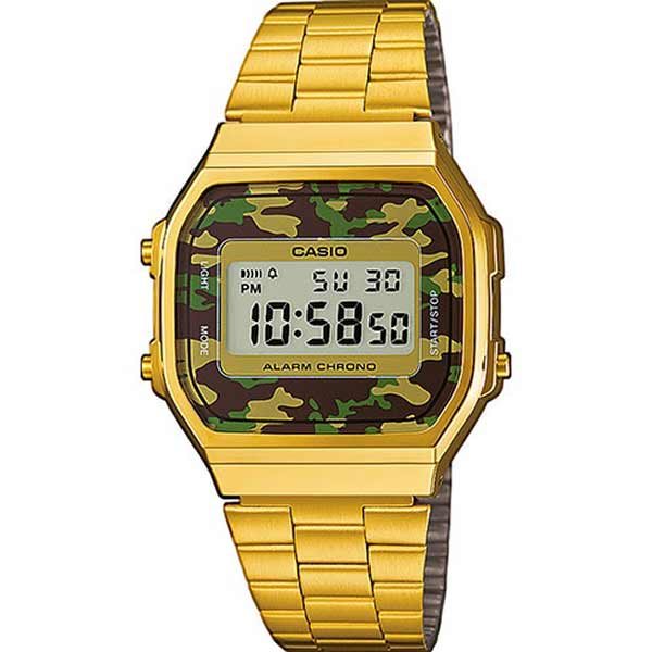 Casio A168WEGC-3DF Digital Unisex Gold