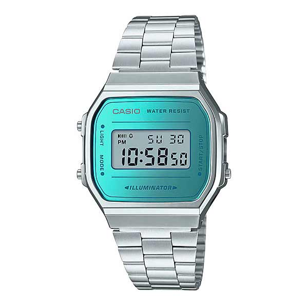 Casio A168WEM-2DF Digital Unisex Silver