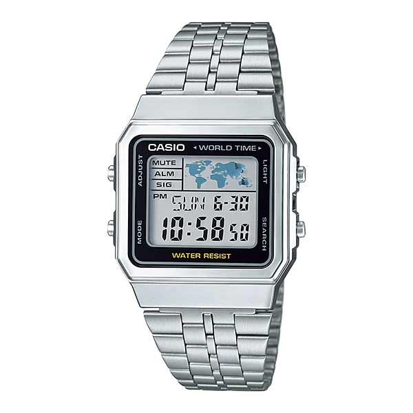 Casio A500WA-1DF Digital Unisex Silver