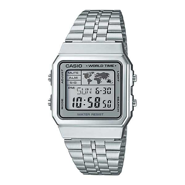 Casio A500WA-7DF Digital Unisex Silver