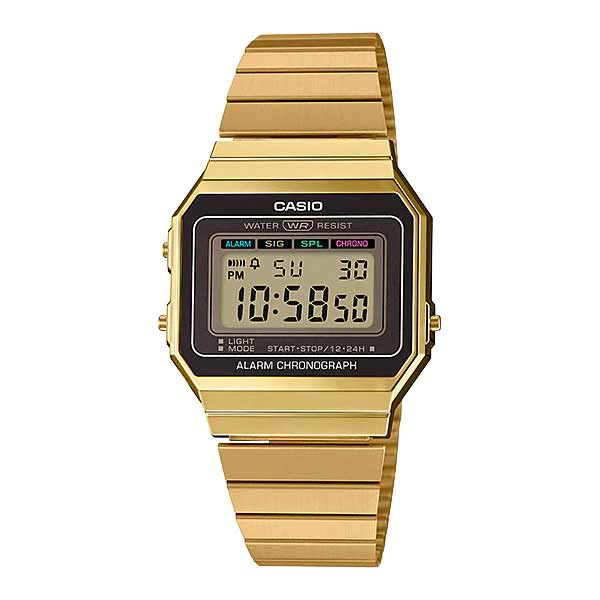 Casio A700WG-9ADF Digital Unisex Gold