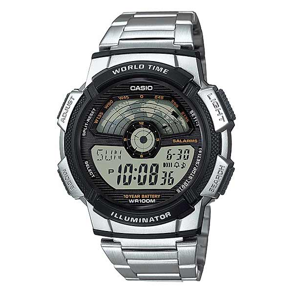 Casio AE-1100WD-1AVDF Digital Mens Silver