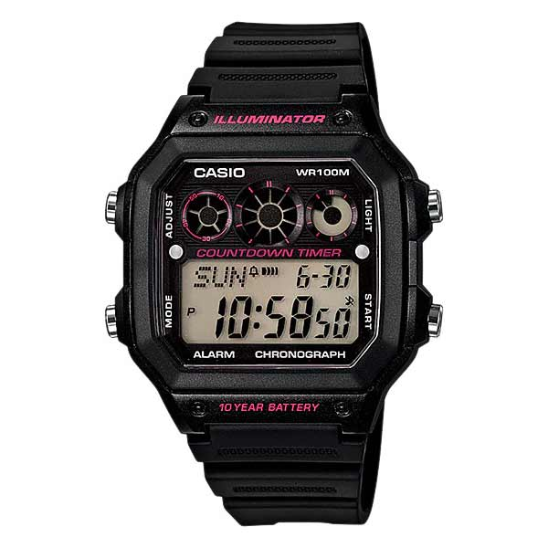 Casio AE-1300WH-1A2VDF Digital Mens Resin