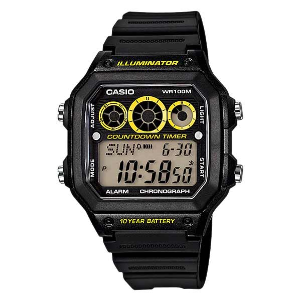 Casio AE-1300WH-1AVDF Digital Mens Resin