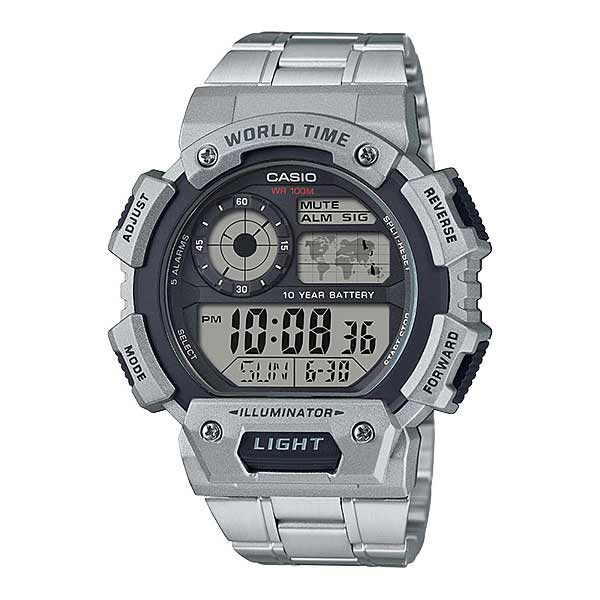 Casio AE-1400WHD-1AVDF Digital Mens Silver