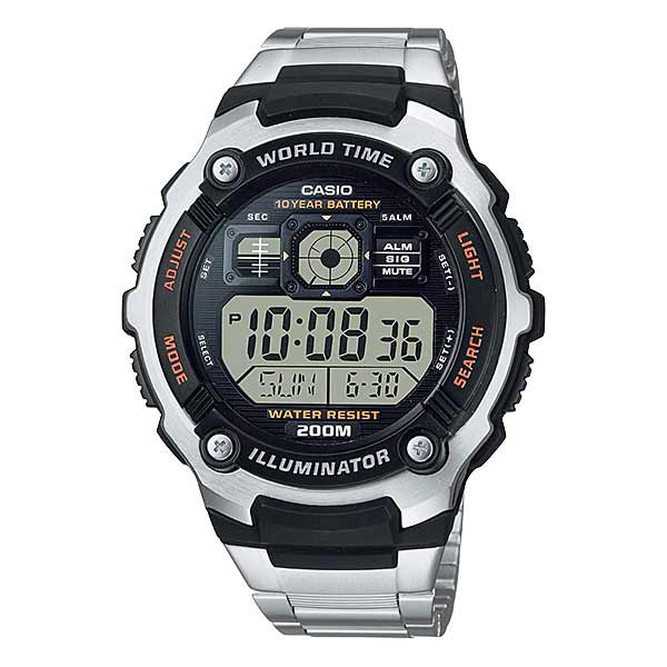 Casio AE-2000WD-1AVDF Digital Mens Silver