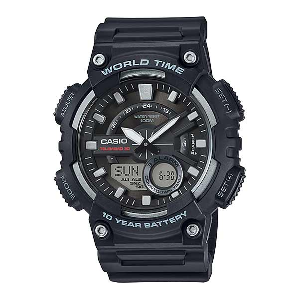 Casio AEQ-110W-1AVDF Dual Display Mens Resin