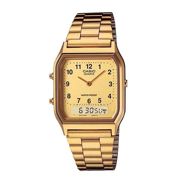 Casio AQ-230GA-9BMQ Dual Display Unisex Gold