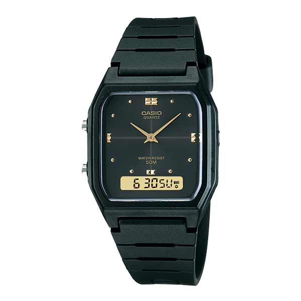Casio AW-48HE-1AVDF Dual Display Unisex Resin